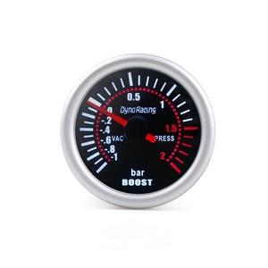 "Dynoracing 2"" 52mm Universal 12V LED Smoke Len -1~0~2BAR Turbo Boost Gauge Meter / Turbo Boost Meter TT101310(China)"