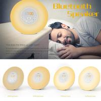 Wireless Bluetooth Speaker Intelligent Audio Desk Lamp LED Music Light Bulb Colorful Wake Up Atmosphere Light Speaker Dropship