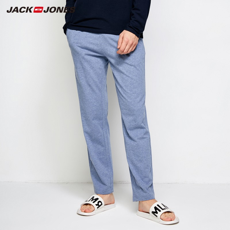 JackJones Men's Cotton Homewear Check Drawstring Pants Menswear Men Slim Fit Fashion Trousers Male Brand Clothing E|2183HC502(China)