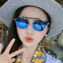 New Oversize Cat Eye Sunglasses Women Fashion Summer Style Frame Eyeglasses Men and Women Tide Brand High-grade Metal Sunglasses