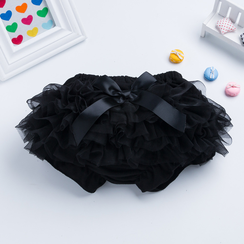 Comfortable Toddler Baby Girl Bowknot Ruffle Bloomer Nappy Cotton Blend Diaper