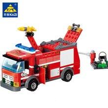 206Pcs City Fire Fight Truck Car Model Building Blocks Sets Figures LegoINGLs DIY Bricks Playmobil Educational Toys For Children цены онлайн