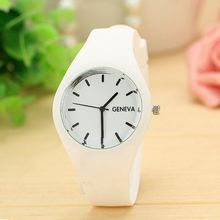 brand watches women fashion sports quartz watch blue white black red 30M waterproof Reloj Mujer Montre Femme rubber band