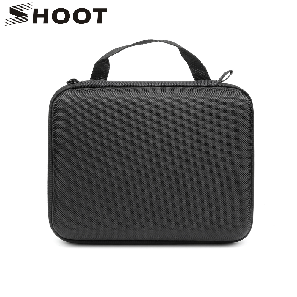 SHOOT Middle Size Portable EVA Collection Box Case for GoPro Hero 6 5 7 Black Xiaomi Yi 4K Sjcam Action Camera Go Pro 6Accessory f88 action camera black