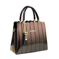 ICEV luxury handbag women bag designer brand women leather handbags large capacity panelled patent leather ladies shoulder bags