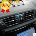 Para KIA RIO k2 1.4 1.6 2009-2013 interior modificado acessórios de produtos para o interior do carro de fibra de carbono pós três ternos 3D adesivo