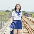 2017 nuevo conjunto uniforme de Las Mujeres de la muchacha encantadora escuela traje de marinero estudiante mesa traje de estilo japonés gir cottonl Conjuntos