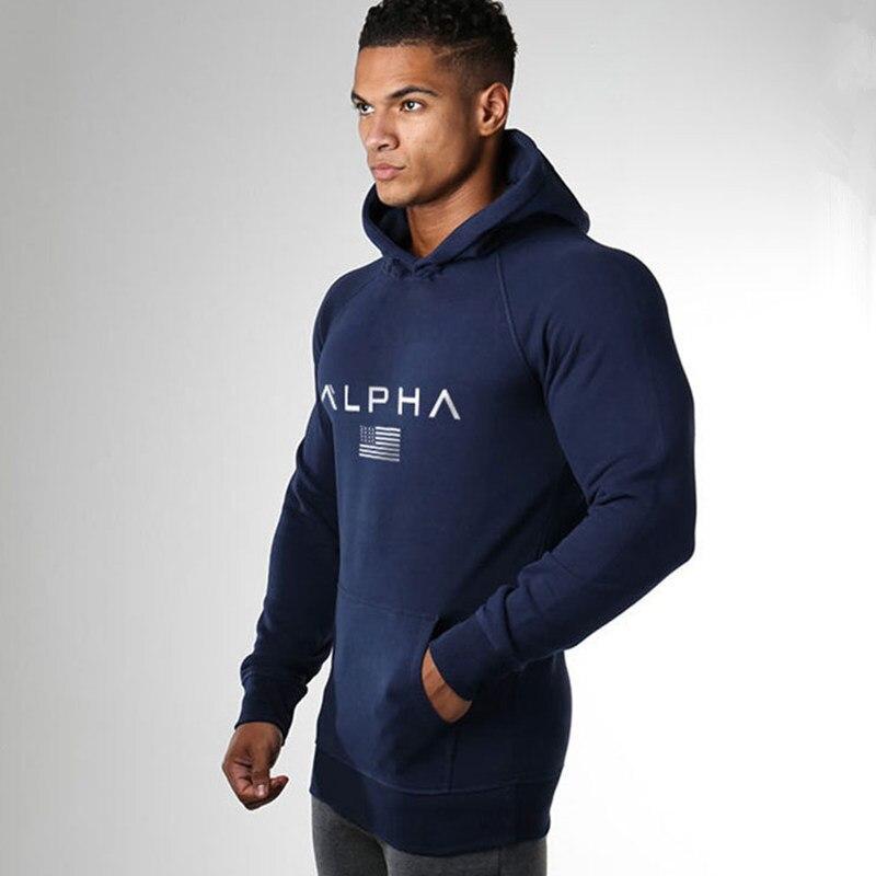 Men Bodybuilding Brand Hoodies Casual Fashion Cotton Sweatshirt Gyms Fitness Workout Hooded Jacket Tops Male Sportswear Clothing