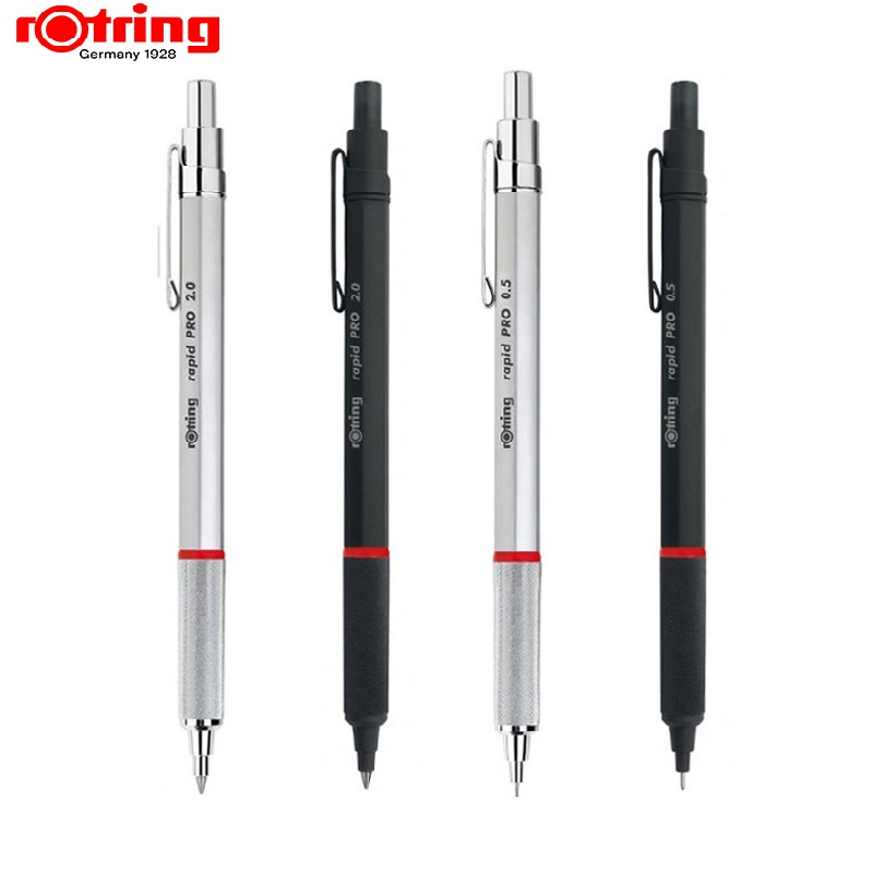 Rotring Rapid Pro  Metal  Mechanical Pencil 2.0mm/ 0.5mm 0.7mm Black/silve High Quality Automatic Pencil Drawing Pen