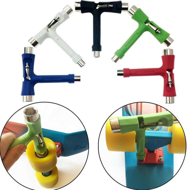Skateboard Tool Longboard T Shape Wrench Nuts Adjusting Tool Multifunctional T mode skate board adjust Kit drop ship #10 tourist season