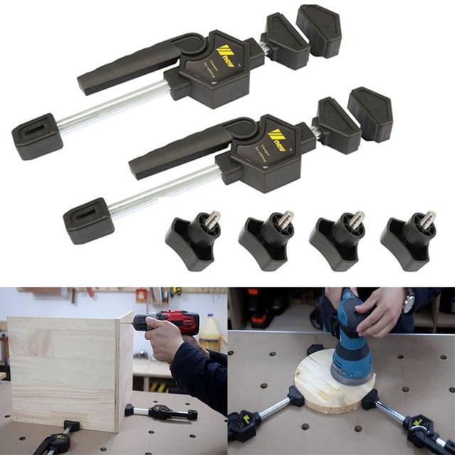 木工デスクトップクリップ調節可能なフレーム木工高速固定クリップ具木工用ベンチ