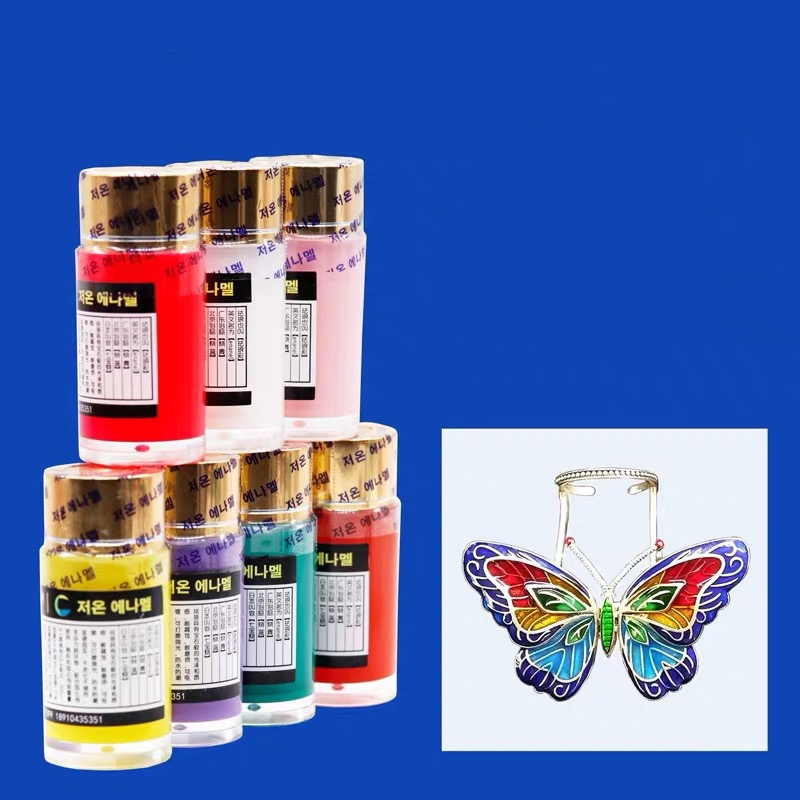 20ml Enamel Paint Low Temperature Baking, Hardening Agent Liquid Included, Easy Applying For Jewelry DIY Art Color Series2