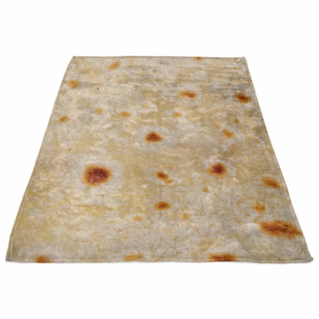 Tortilla Burrito Fleece Blanket Throw Tortilla Texture Soft Fleece Throw Blanket