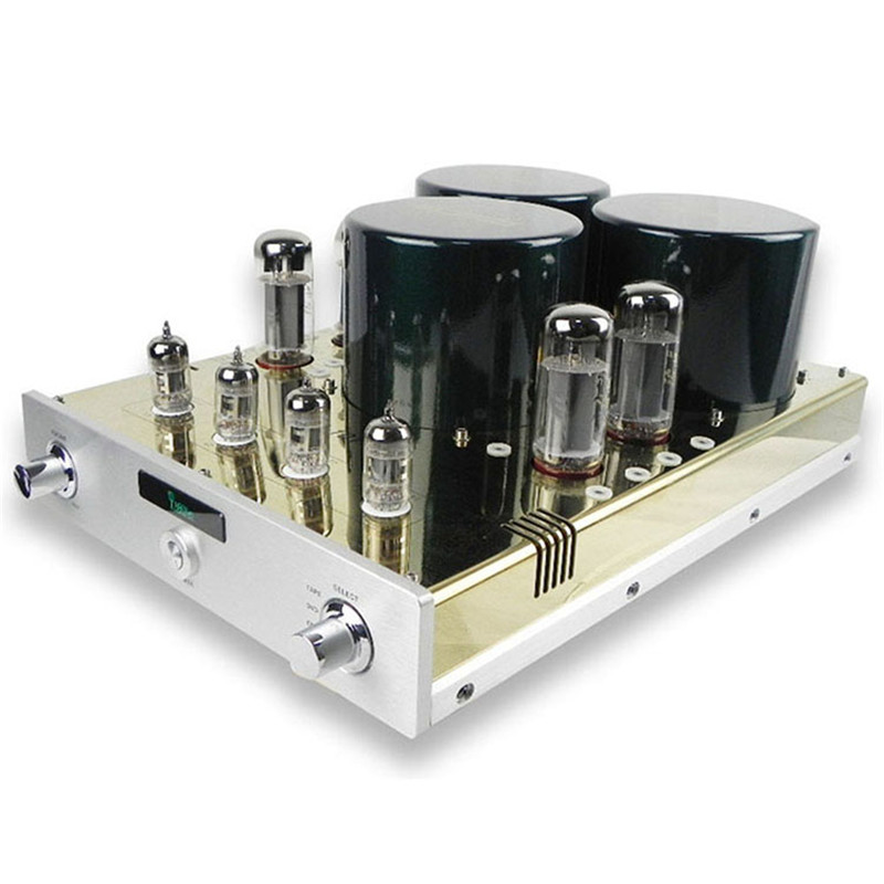 YAQIN MC-10T MC10T EL34 Vacuum Tube Push Pull Integrated Amplifier HIFI Lamp AMP with 12AX7 Pre-amp music hall latest muzishare x5 hifi push pull el34 vacuum tube integrated amplifier headphone power amp 35w 2
