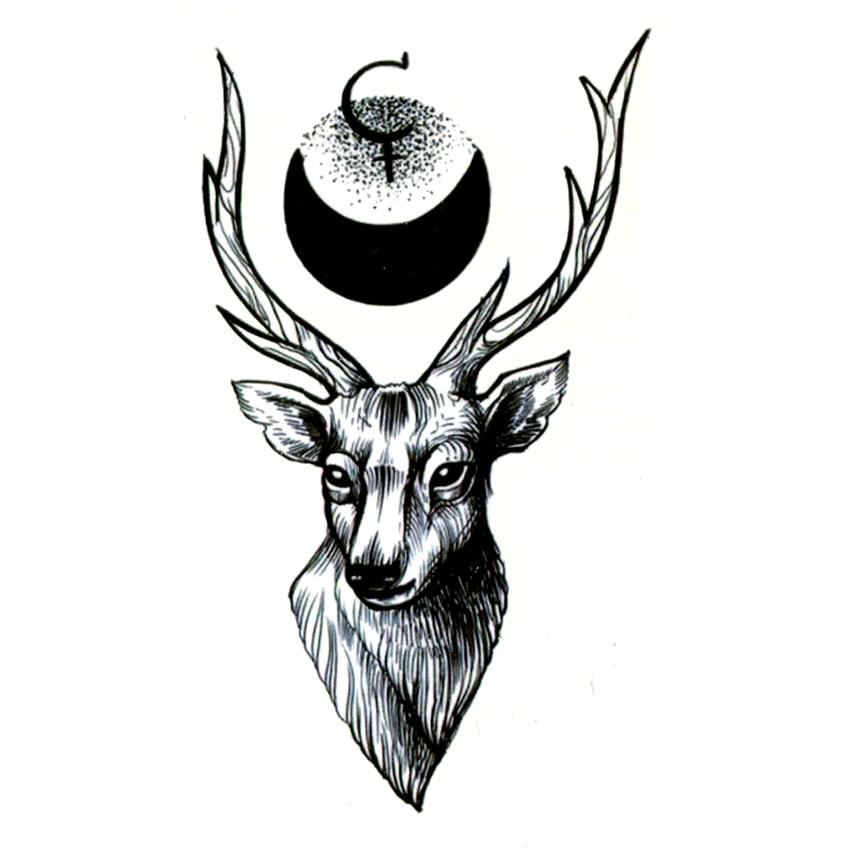Deer Waterproof Temporary Tattoo Sticker Maquiagem Animal Totem Fake Tattoo Body Art The Flash Kids Tatoo Sticker Tatuaje