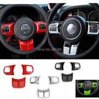 Newest Hot Fashion Steering Wheel Cross Cover Trim Molding Interior Accessories ABS For Jeep Wrangler jk 2007 2016