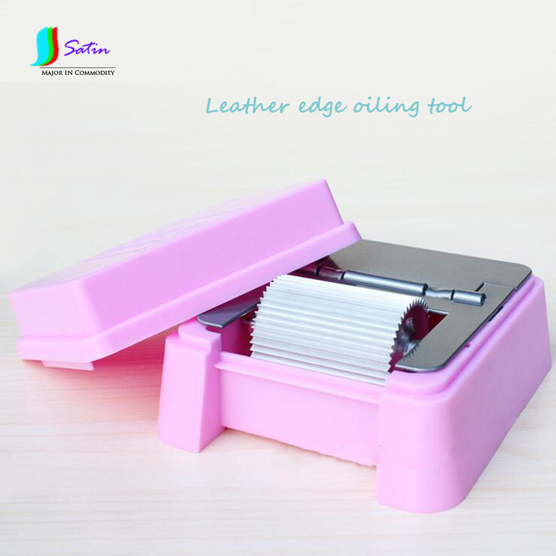 Leather Edge Wiping Oil Tool,DIY Leather Tool,Painting Oil Leather Edge Box S0098H