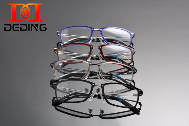 Deding мода очки кадр 2016 мужчин очки оптические ясно чтения линзы для компьютера близорукость кадров популярные мужской DD1238