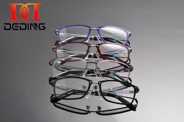 Tent DeDing moda gafas marco 2016 hombres marco óptico lentes lente clara lectura para miopía del marco para hombre populares DD1238