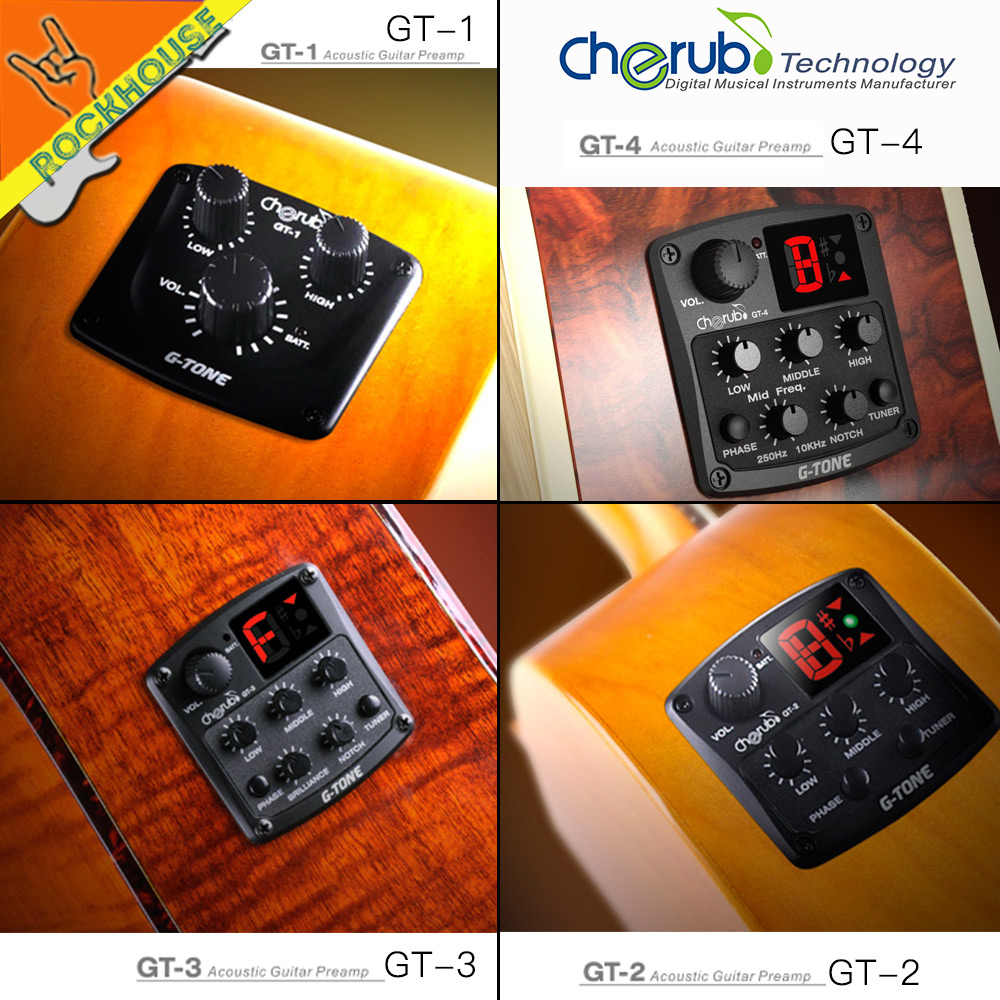 NEW Cherub Folk guitar 4 Band EQ Acoutsic guitar Equalizer with built-in tuner Phaser mid-frequency notch effect free shipping joyo eq 307 folk guitarra 5 band eq acoutsic guitar equalizer high sensibility presence adjustable with phase effect and tuner