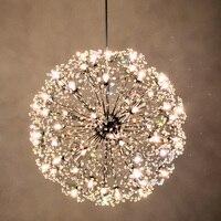 Norbic современный краткое K9 подвеска в форме кристального цветка светильник дома деко столовая Хромовая железная Искра мяч G4 светодиодный по