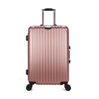 2018 new universal wheel trolley case pc aluminum frame hard shell trolley case student suitcase suitcase men and women boarding