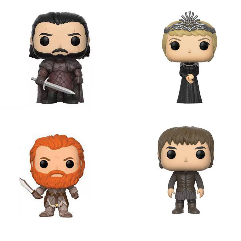 FUNKO POP Game of Thrones Collectible Toys Jon Snow Targaryen Drogon Ghost Tyrion Lannister Action Figures Children ToysFUNKO POP Game of Thrones Collectible Toys Jon Snow Targaryen Drogon Ghost Tyrion Lannister Action Figures Children Toys