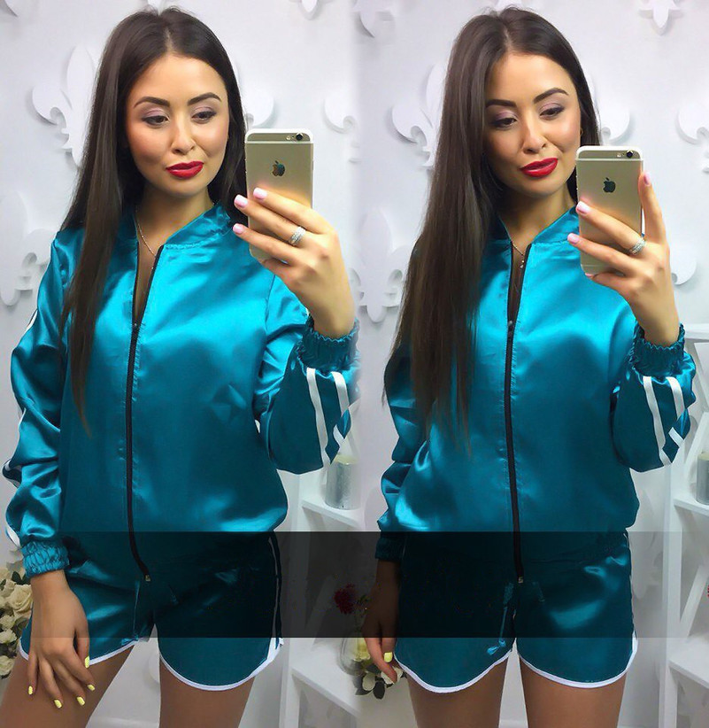 Shorts Zipper Suit Set 2019 Women Tracksuit Two-piece Sport Style Outfit Jogging Sweatshirt Fitness Lounge Sportwear