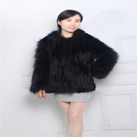 New fashion ladies fur coat suede clothing braid hair woven coat rabbit fur woven coat