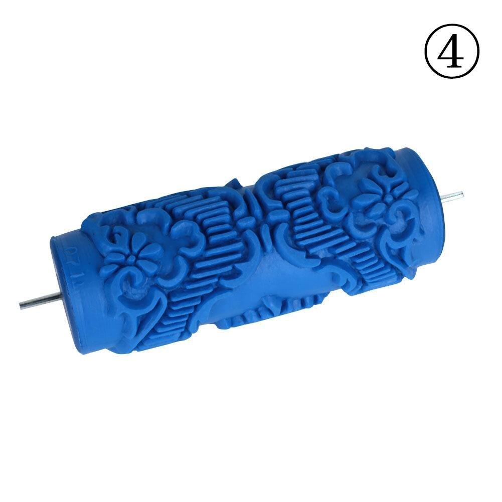 1 шт. резиновый Рельефный цветочный узор DIY Краска роликовый рукав декоративная текстура ролик для стены краска машина - Цвет: 071Y
