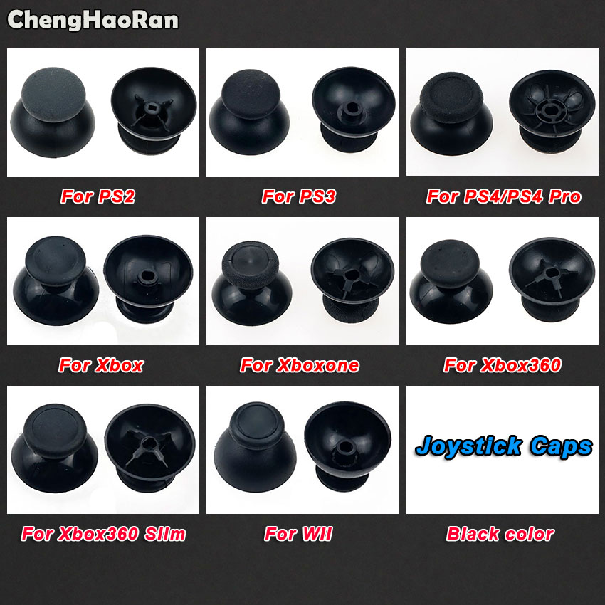ChengHaoRan 2pcs Analog Joystick Thumb Stick Grip Cap For Sony PS2 PS3 PS4 Pro/Slim Xbox 360/One Joypad Controller Thumbsticks