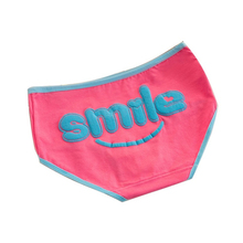 Free Shipping Cotton cartoon smiley panties Cute girl-style sexy briefs Cartoon underwear S2004 LC