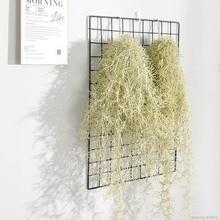 1 PCS 90cm Long Artificial Air Grass Fake Plastic Plant Vine Hanging Leaves Rattan Home Wedding Wall Garland Decoration plants