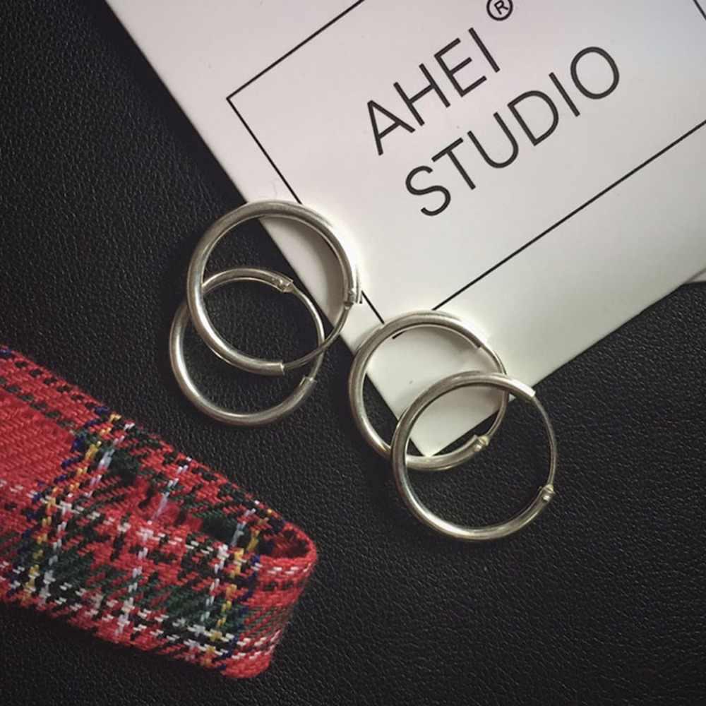 Chandler корейские ювелирные изделия, креольские серьги для влюбленных, круглые серьги для женщин и кольца, женские серьги в стиле хип-хоп, серьги-кольца