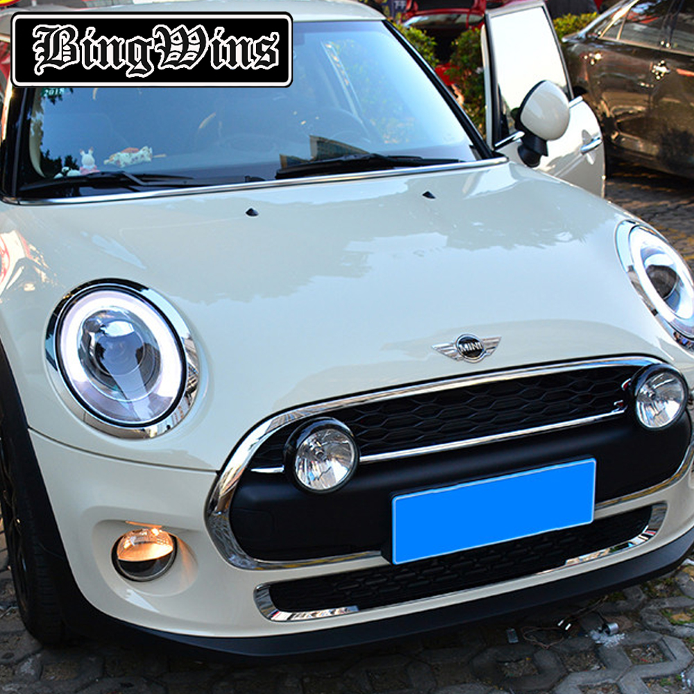 BINGWINS Car Styling For Mini F56 cooper headlights For F56 LED head lamp Angel eye led DRL front light Bi-Xenon Lens xenon HID