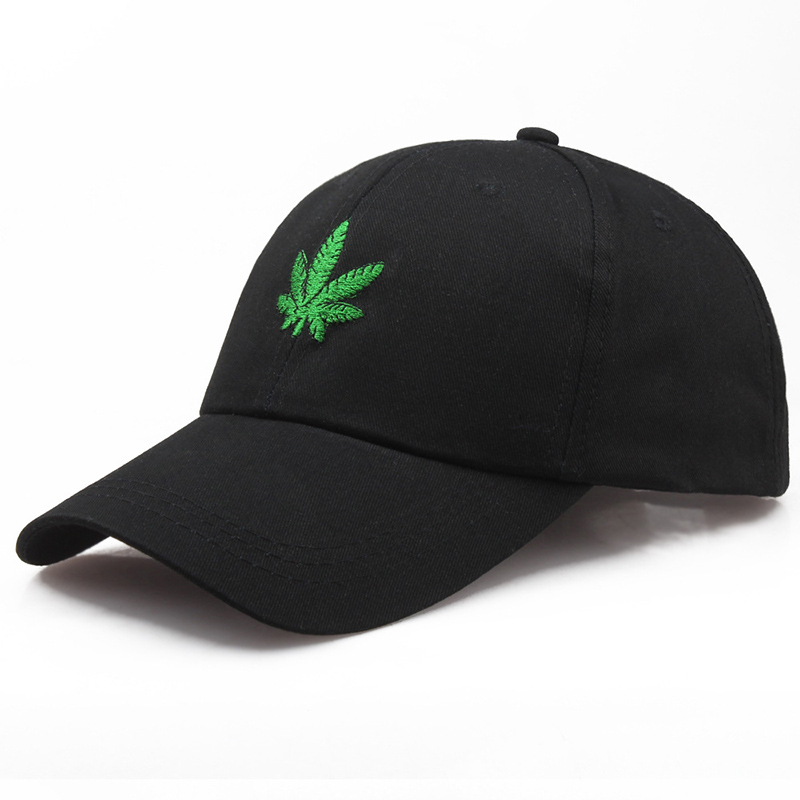 Unisex   Baseball     Cap   Maple Leaves Embroidery Men Women Snapback New Fashion Outdoor Weed Duck Tongue Hip Hop Hat   Caps   CP0091