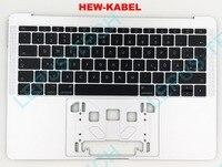 Немецкая оригинальная новая клавиатура для MACBOOK A1708 2016 год с подставкой немецкой раскладкой серебристо серый цвет