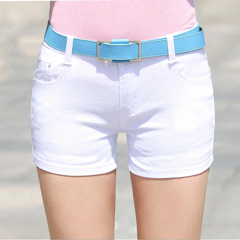 2018 Summer Denim Shorts cotton Slim Fit ladyies elastic waist sexy female Short Jeans for Women