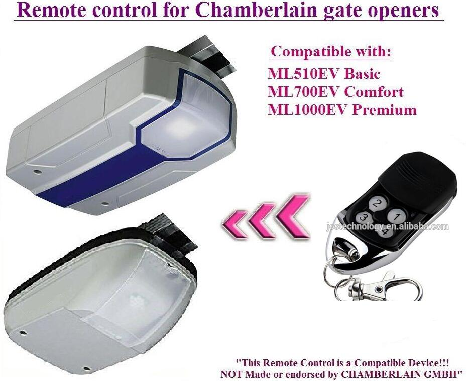 The remote replace for Chamberlain ML510EV Basic, ML700EV Comfort garage door openers free shipping