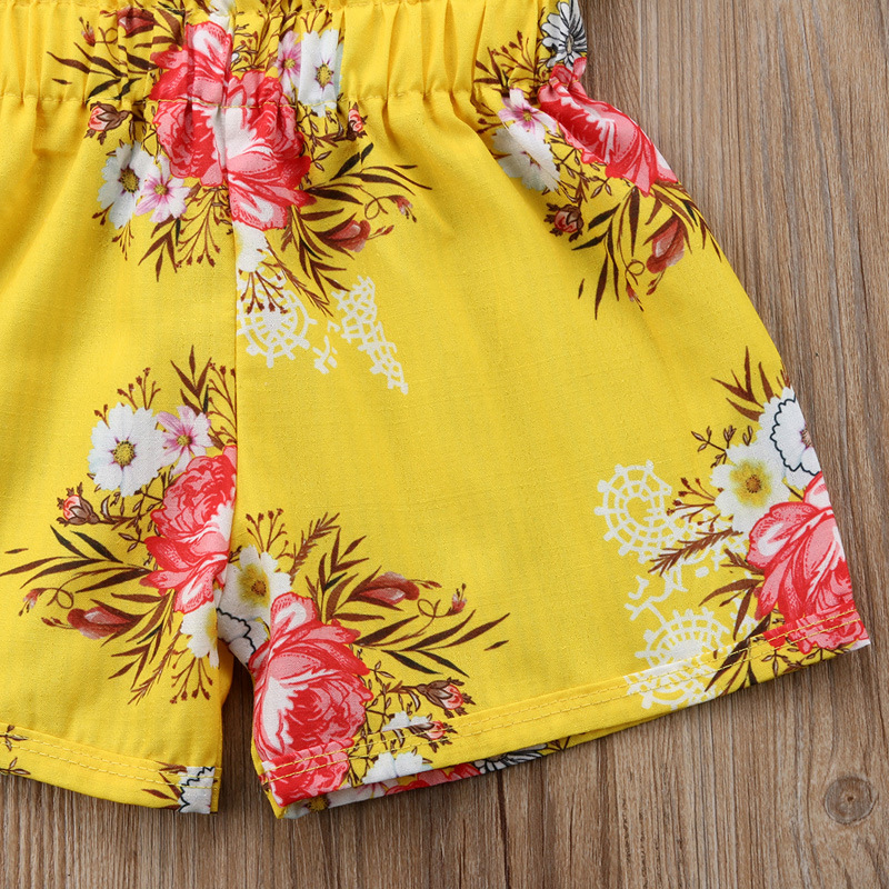 Summer Girls Clothes Sets Baby girls Sling T-shirt And Shorts Suit Tracksuit For Kids Clothes Fashion Children Clothing Set (7)