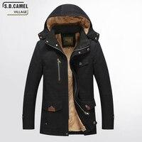 S. D. DEVE KÖY 2017 yeni kış ceket erkek ceket kış marka giyim Kalın kış ceket Pamuk erkek Kapşonlu Parka Ceketler Coat