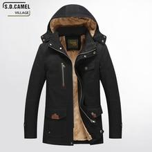 S.D.CAMEL VILLAGE 2017 new winter jacket men's coat winter brand clothes Thick winter coat Cotton Mens Hooded Parka Jackets Coat