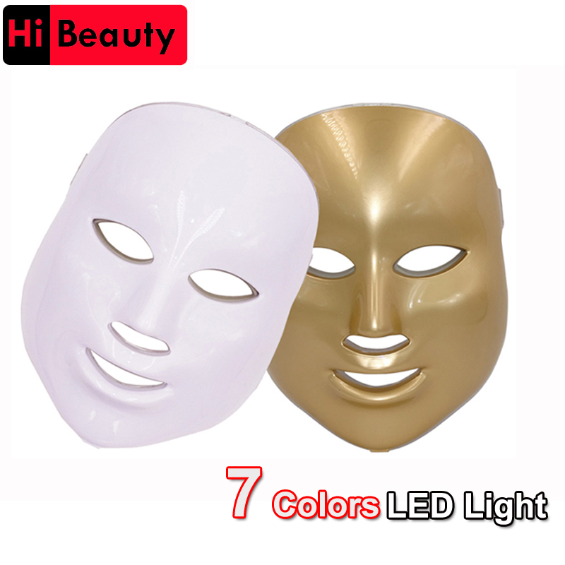 7 Color Korean Photodynamic Colorful LED Lighting Facial Mask Beauty Instrument Anti Acne Skin Rejuvenation Removal Beauty Spa national beauty tian xiang lighting 8128