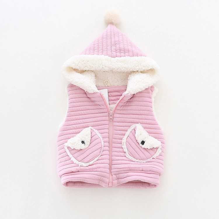 baby girl winter warm fleece vest jacket waistcoat hooded (7)