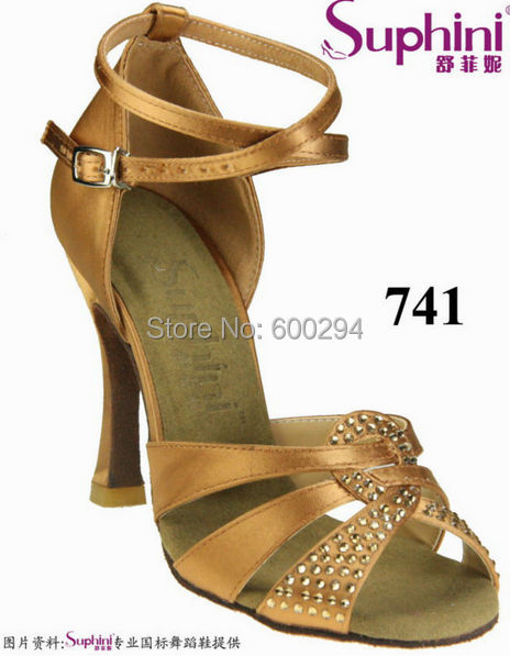 FREE SHIPPING Woman 10cm Heel Latin Dance Shoes Satin Zapatos de Baile Latino