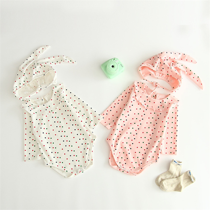 Ruffles lace collar long sleeve romper baby girls jumpsuit clothes Spring autumn toddler onesie baby costumes Babyspielanzug(China)
