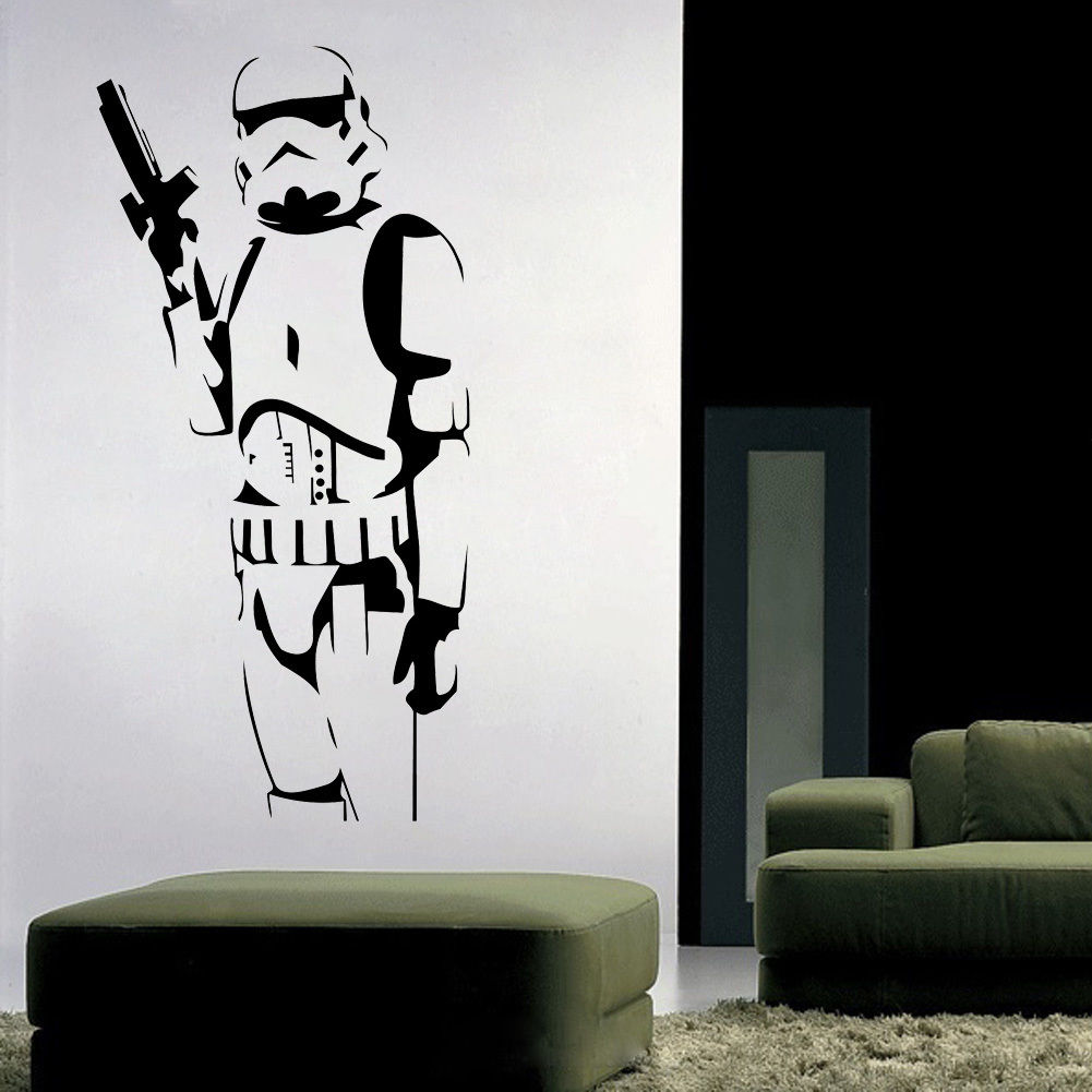 Fashion Star Wars Stormtrooper Wall Art Sticker Childrenu0027s Room Decor  Removable Decals Wall Stickers In Wall Stickers From Home U0026 Garden On  Aliexpress.com ... Part 83