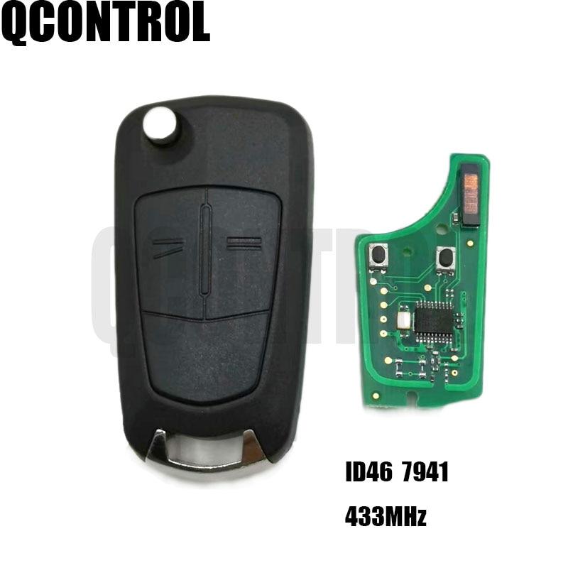 QCONTROL Car Remote Key PCB For Opel/Vauxhall Astra H 2004 - 2009, Zafira B 2005 - 2013