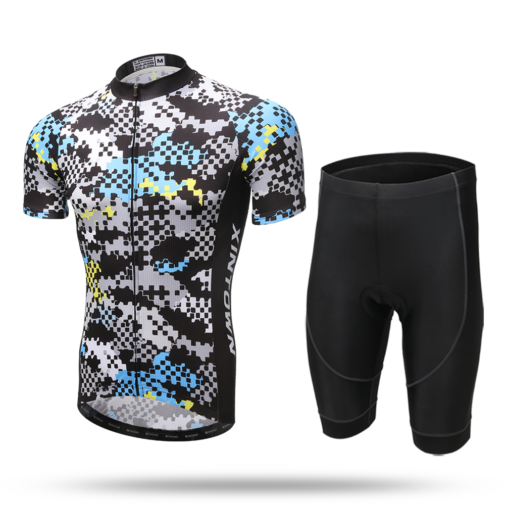2017 pro team cycling sets men summer breathable cycling clothing specialized short sleeve jersey sets with Gel Padded shorts