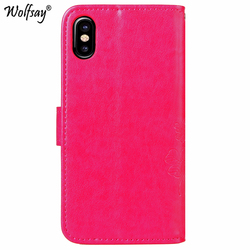 Wolfsay For Case iphone X Case Leather Wallet Cover For Fundas iphone X Cover Stand Flip Phone Bag Case On For iphone X Celular 2
